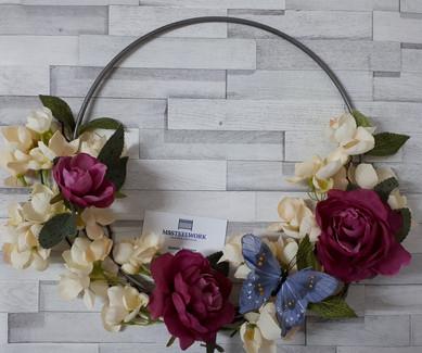 Solid steel hoop. Floral hoop.
