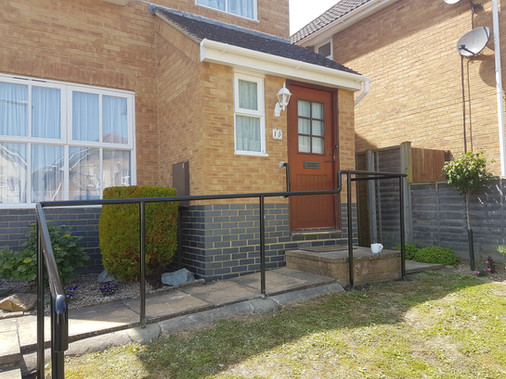 Saftey handrail to residential property.