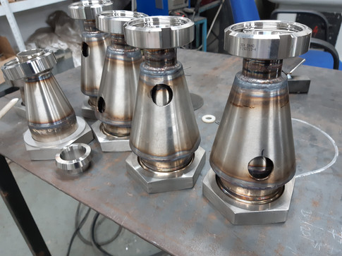 Stainless steel jacketed product pipe work