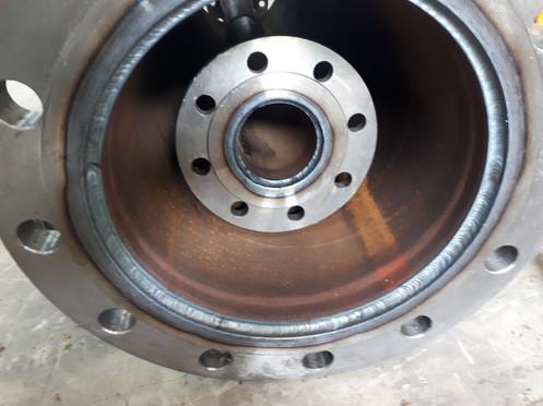 Pipe welding (inlet flange)