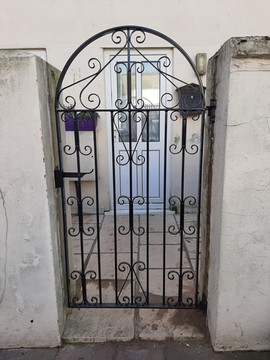 Residential metal gate. Designed , fabri