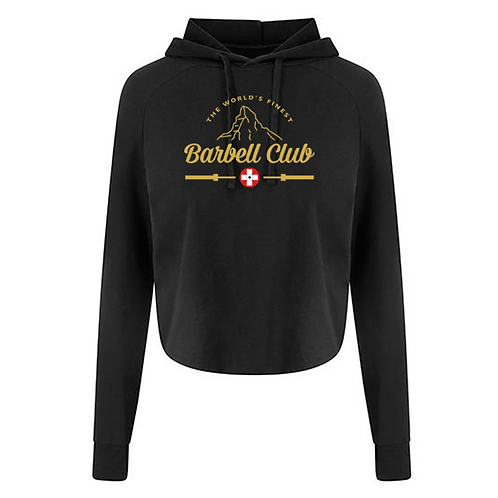 The finest barbell club Ladies cross back Hoody