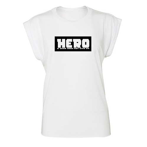 Hero Flowy Muscle Tee with Rolled Cuff