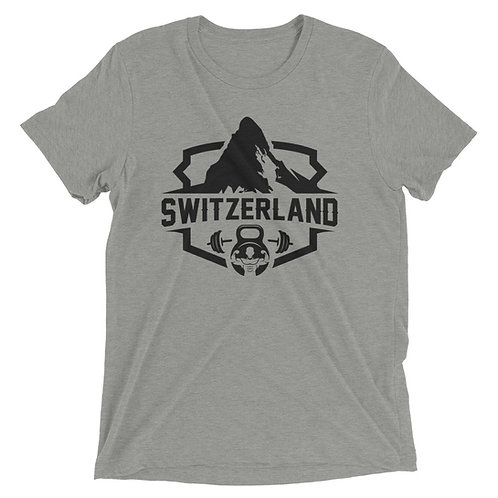 Swiss Mountain Short sleeve triblend shirt _ black