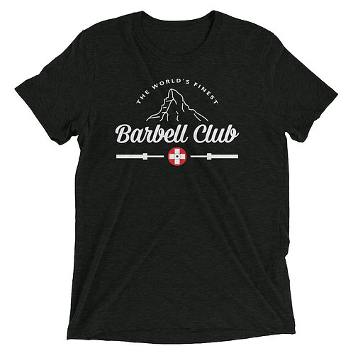 The finest barbell club Triblend_white