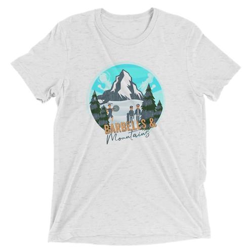 Barbells & Mountains Shirt Unisex  (Triblend)
