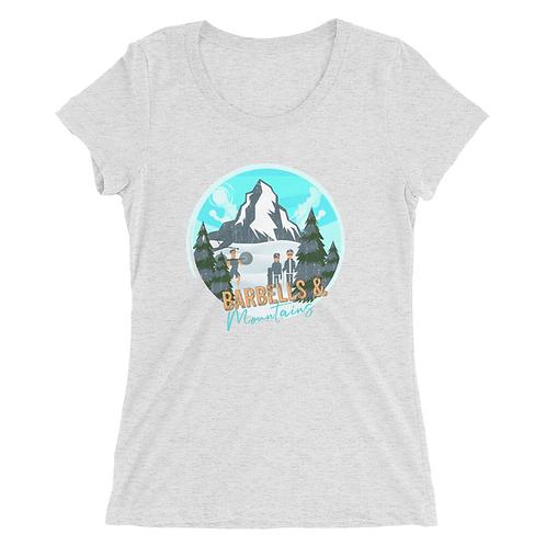 Barbells & Mountains Lady Shirt (Triblend)