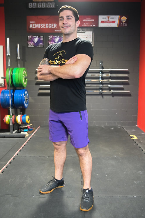 V1 Athletic Shorts Men _Blue Ribbon (Vintage Purple)