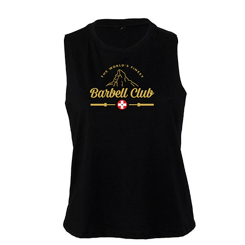 The finest barbell club cropped Tank