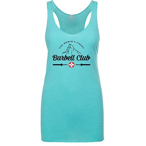 The finest barbell club Triblend Racerback Tank_black