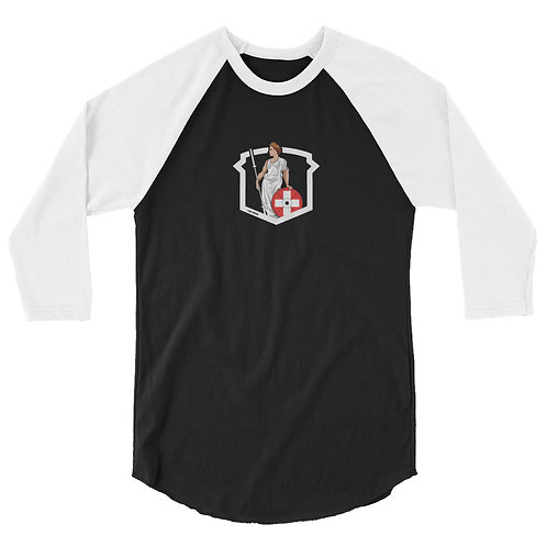 Helvetic Weightlifting 3/4 sleeve raglan shirt