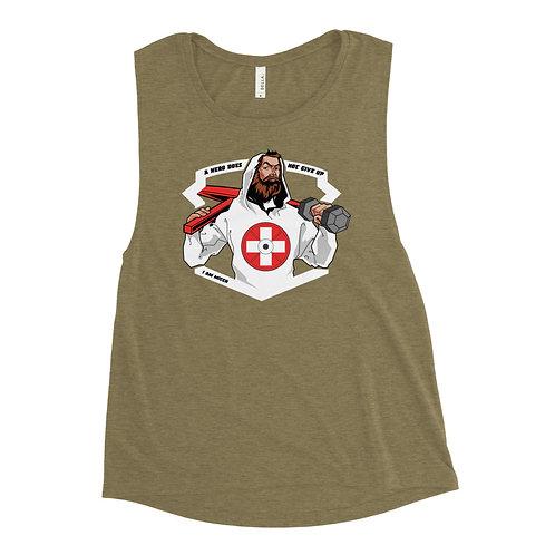 Swiss Hero Ladies' Muscle Tank _ white