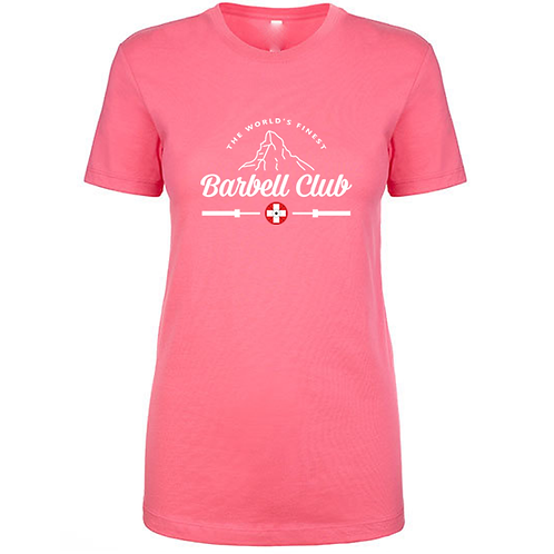 The finest barbell club Shirt_white