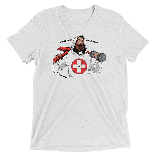 Swiss Hero Short sleeve Triblend t-shirt _ white