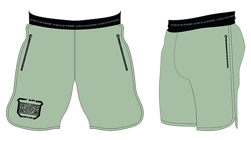 Athletic Shorts Men _Smoke Green