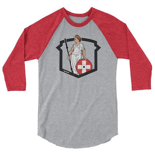 Helvetic Weightlifting 3/4 sleeve raglan shirt