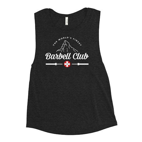 The finest barbell Clubg Ladies' Muscle Tank_white