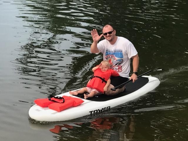 Aquafun Paddle Lake Murray Family on a boat