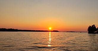 Lake Murray Boat Company sunset and sunr