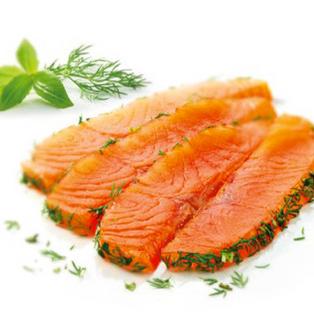 Emincé de saumon à l'aneth (150gr = 1 pers) €10.00