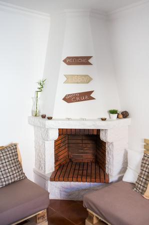 usable fireplace