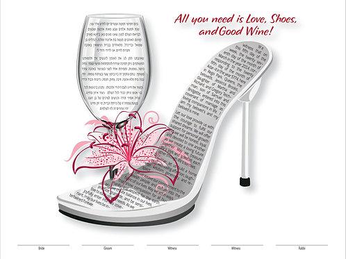 1884 - Love, Shoes & Wine Ketubah