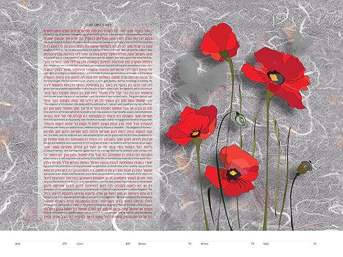 1869 - Red Poppies Ketubah