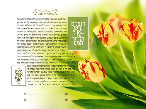 1844 - Tulips In Bloom Ketubah