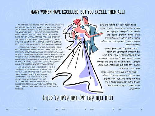 1880 - The First Dance Ketubah