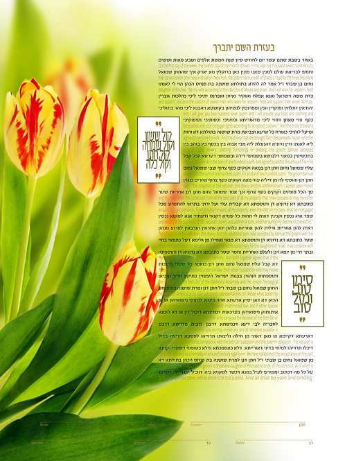 1811 - Sweetness of Tulips Ketubah