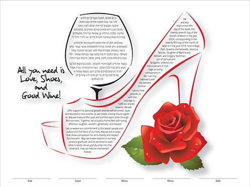 1885 - Love, Shoes & Wine Ketubah