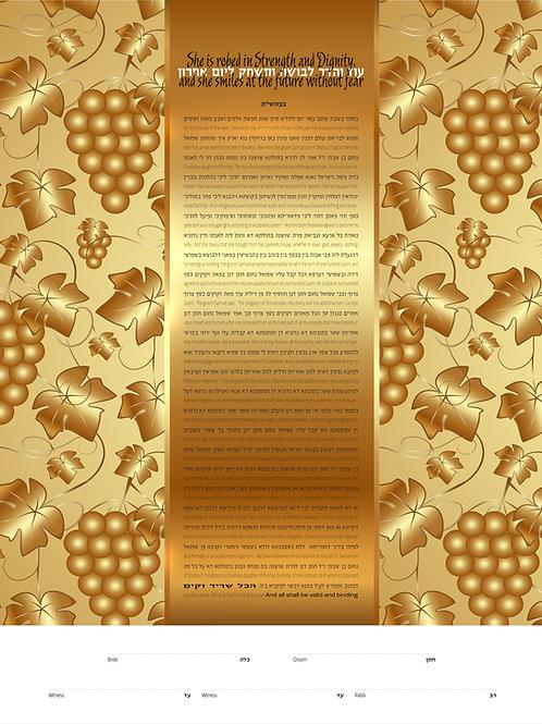 1826 - Vineyard Of Gold Ketubah