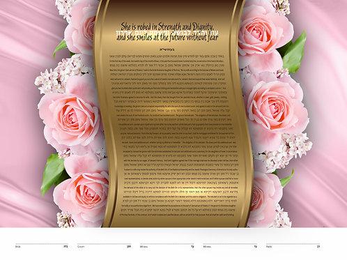 1862 - Pillar of Roses Ketubah