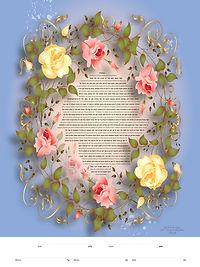 c-1894_Traditional Rose Wreath Ketubah.j