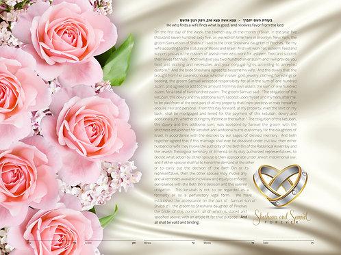 1854 - Fragrant As Pink Roses Ketuba