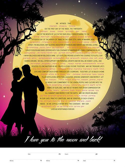 1898 - Moonlight Dance Ketubah