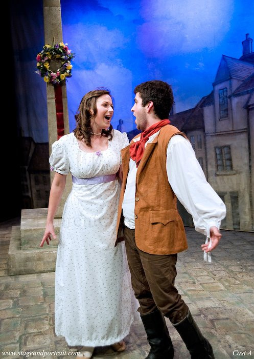 Tenor David de Winter as Hugh and Elaine Tate as Mary performing Vaughan-Williams' Hugh the Drover with Hampstead Garden Opera
