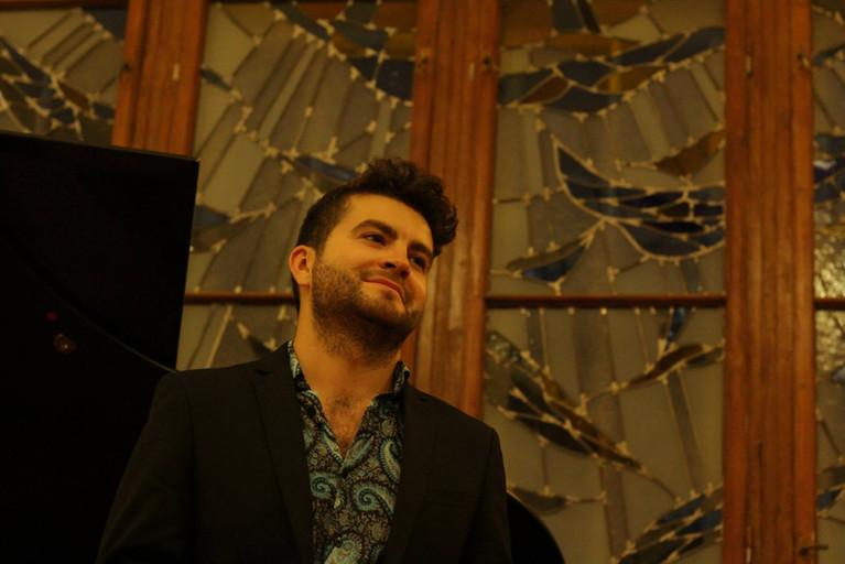 Tenor David de Winter performing Monteverdi, Schubert and Purcell at the 180 degrees Festival in Sofia