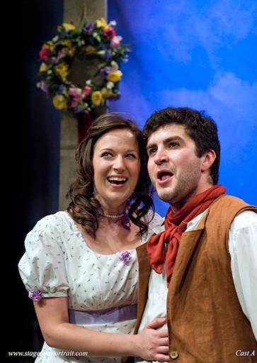 Tenor David de Winter as Hugh and Elaine Tate as Mary performing Vaughan-Williams' Hugh the Drover with Hampstead Garden Opera