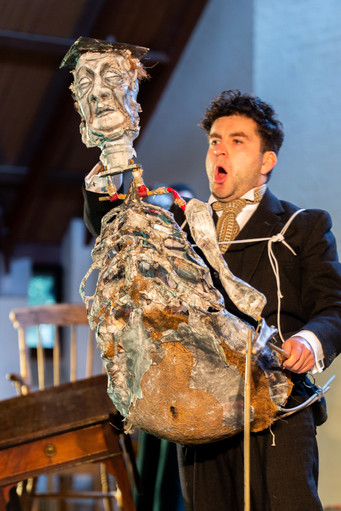 Tenor David de Winter as Schoolmaster in Janacek's Cunning Little Vixen at the Barnes Music Festival 2020