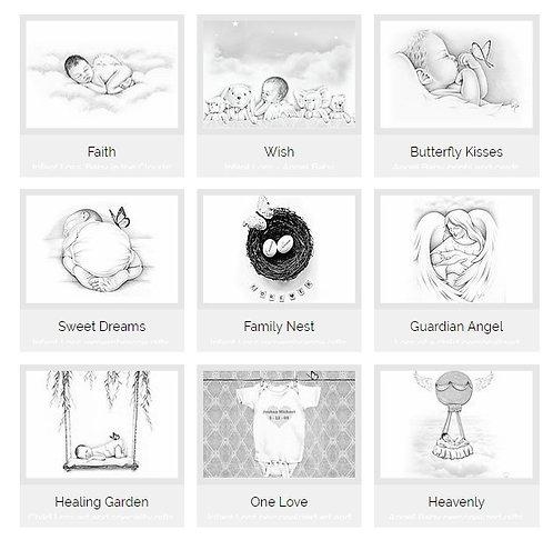 8X10 Personalized Art Prints