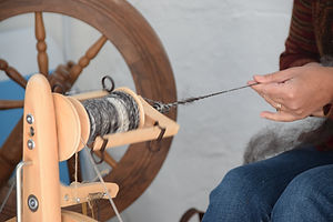 Learning to spin at Cartmel Handspun