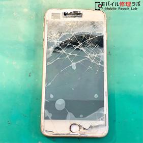 バッキバキのiPhone7P修理