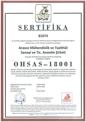 Arasco_OHSAS_18001_Is Sagligi_ve_Guvenli
