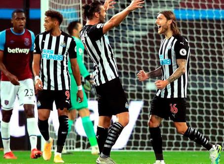 West Ham United 0 Newcastle United 2