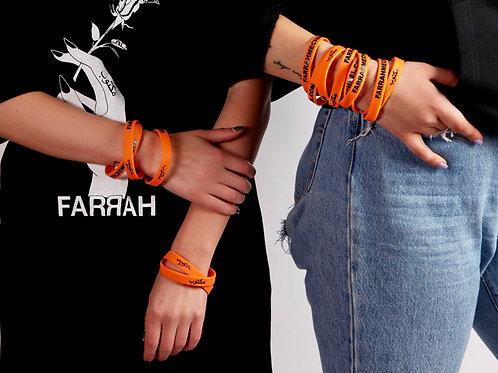 ORANGE Farrah Wristband