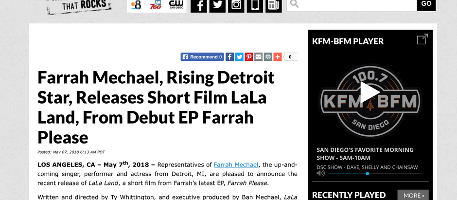 Farrah Mechael Set To Release New Short Film
