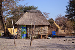 Namibia the villagers were very creative people. Almost all the door houses were