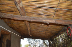 Malawi Sam's village underside of roof constructed with reeds (submitted by The