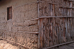 Ethiopia home constructed with mud applied on a wood frame (submitted by Abby Mo